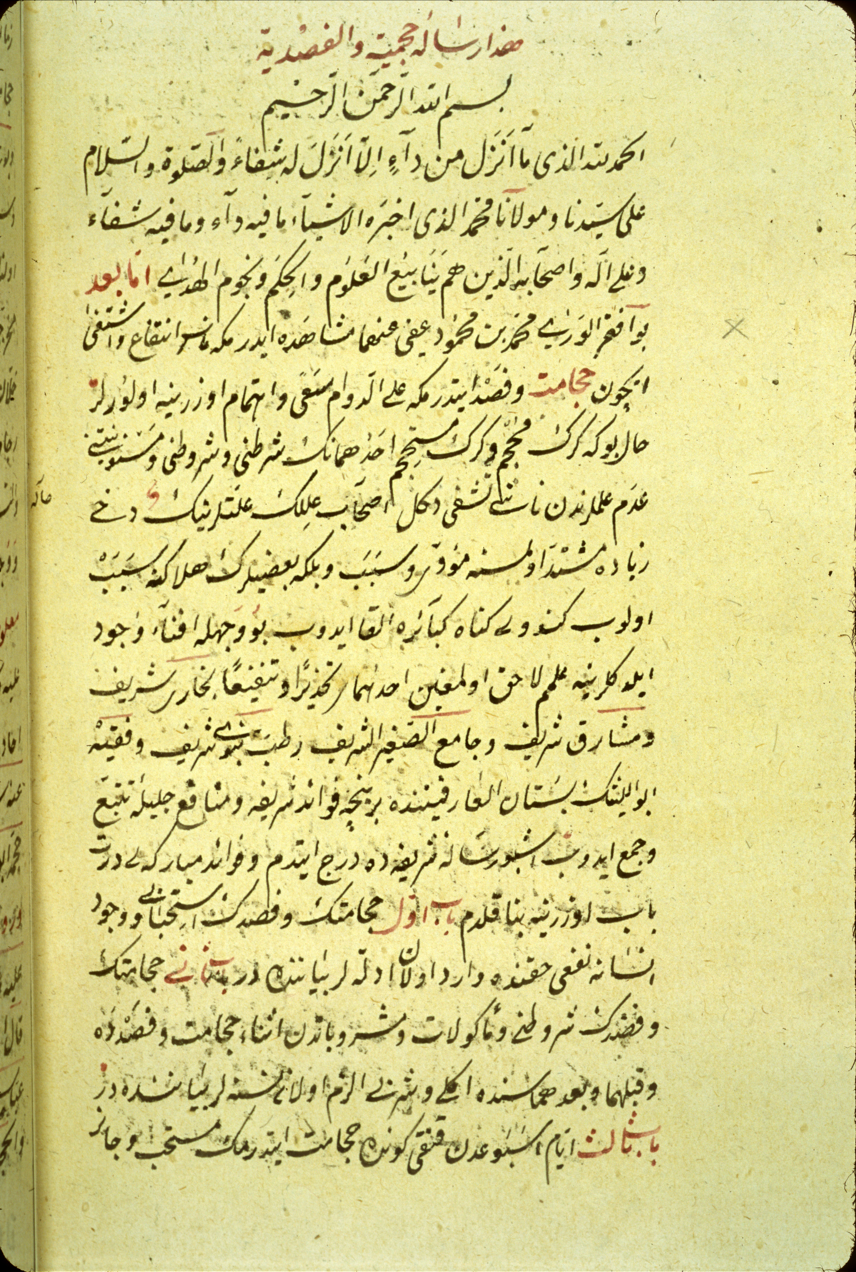 islamic medical manuscripts medical monographs  ms a 88 ii fol
