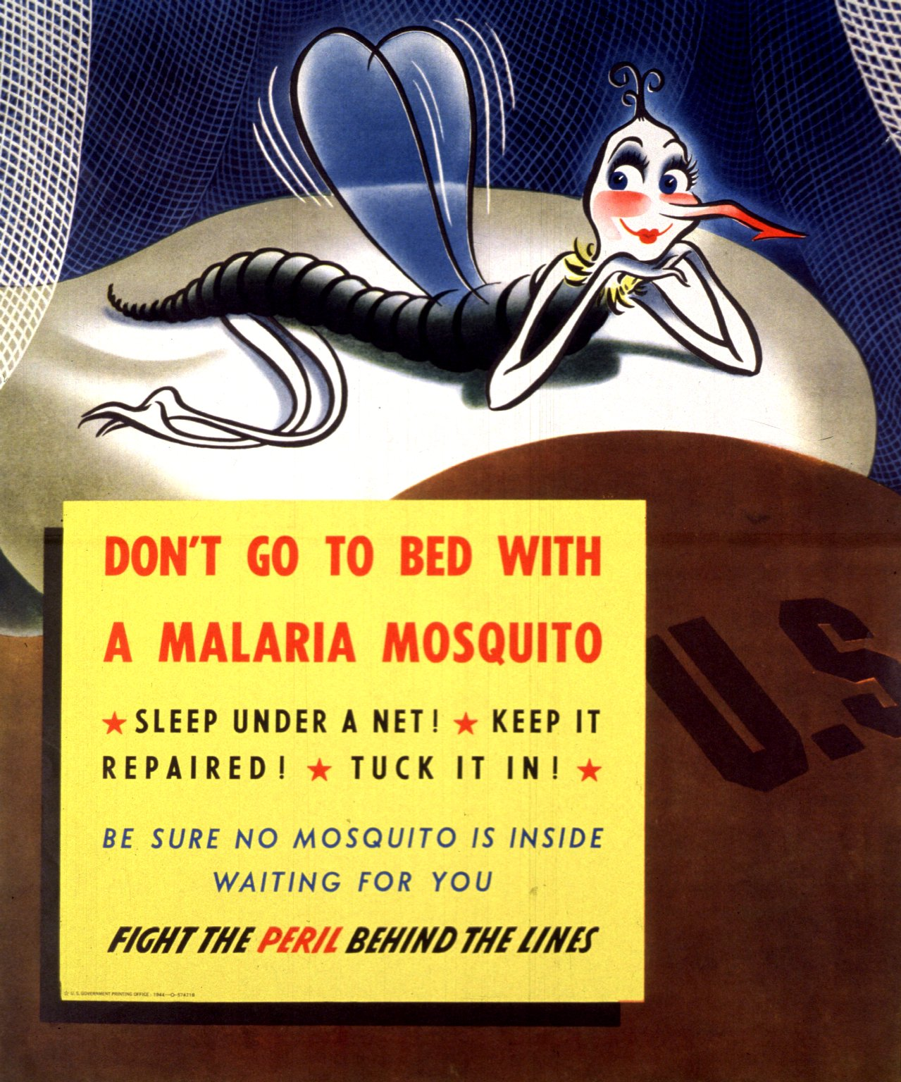 the posters the annie o pheles anti malaria campaign featured a seductive or criminal