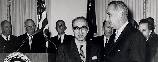 DeBakey poses with President Johnson.