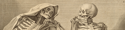 Detail of skeletons from an anatomical atlas.