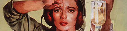 Detail of a Nurse on a Red Cross poster.