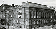 The old red brick building that housed NLM.