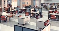 NLM main reading room in the 1960s..