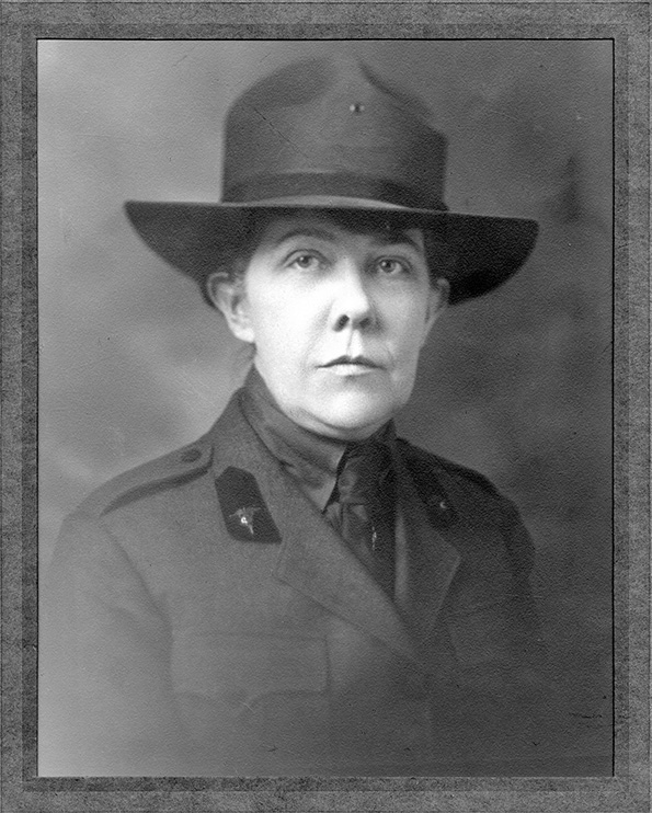 Portrait of woman in uniform.