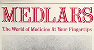 Cover of pamphlet Medlars: The world of Medicine at Your Fingertips.