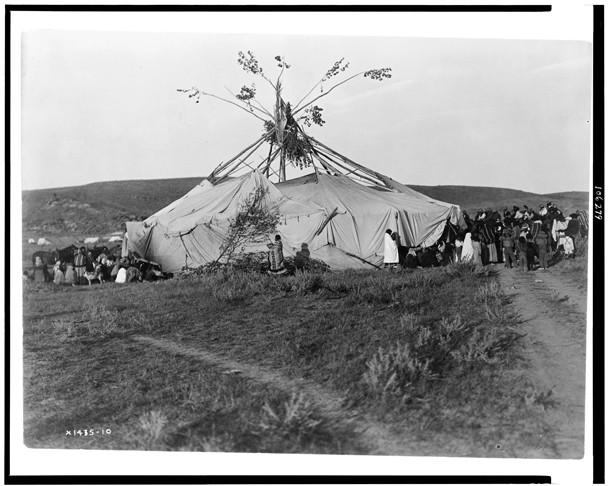 Cheyenne Indians at a Sun Dance, by Edward S. Curtis, circa 1910 ...