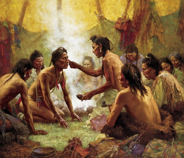 Maryland Native Plants: Blessing From The Medicine Man, Howard Terpning ®, 2011