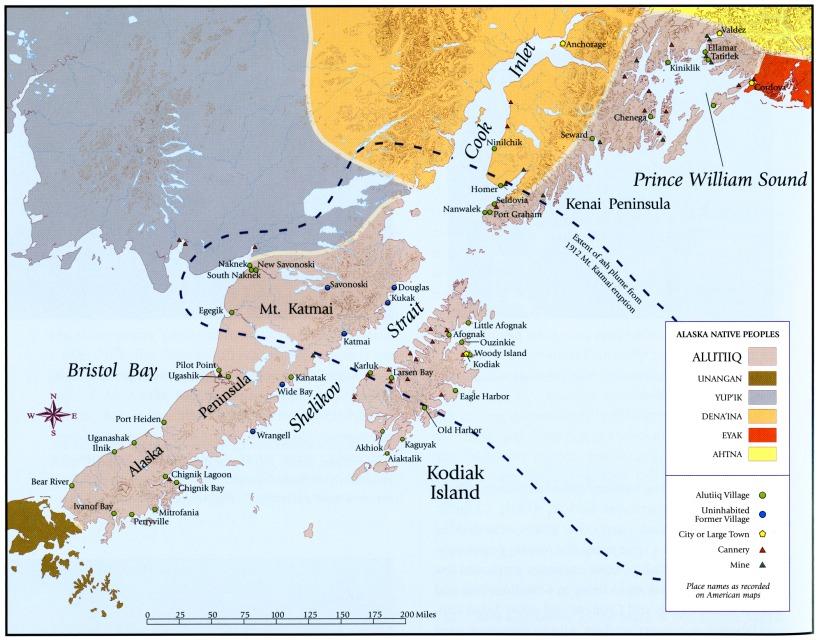 Alaska Map Volcano.Volcano Erupts Destroys Alaska Native Village Timeline Native