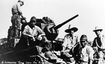 A Japanese Tank Crew on Kiska [Island].