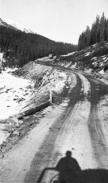 Alaska Highway During Construction
