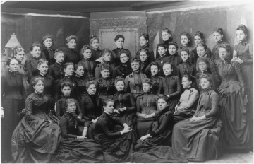 Photograph of women physicians, including La Flesche