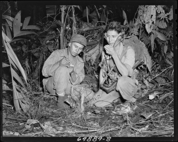 Photograph of Navajo Indian Code Talkers Henry Bake and George Kirk