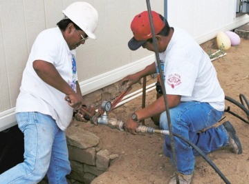 Connecting Water Lines on Navajo Reservation in New Mexico