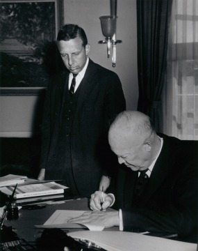 President Eisenhower Signs Hawai'i Statehood Bill