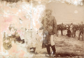 Geronimo at Fort Sill after capture