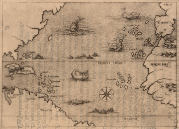 Map Illustrating Voyage of Christopher Columbus