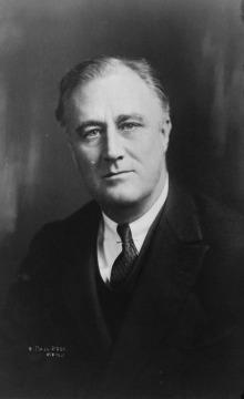 President Franklin D. Roosevelt, bust portrait, facing front
