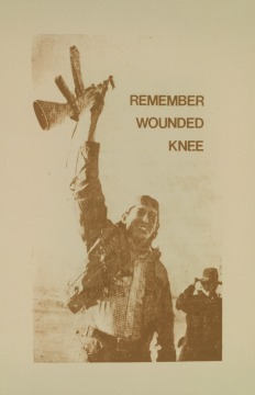 Poster about remembering Wounded Knee