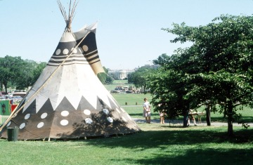 Tipi on National Mall grounds as part of Longest Walk