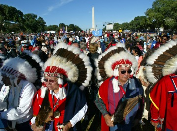 Native Nations Procession to dedicate the National Museum of the American Indian