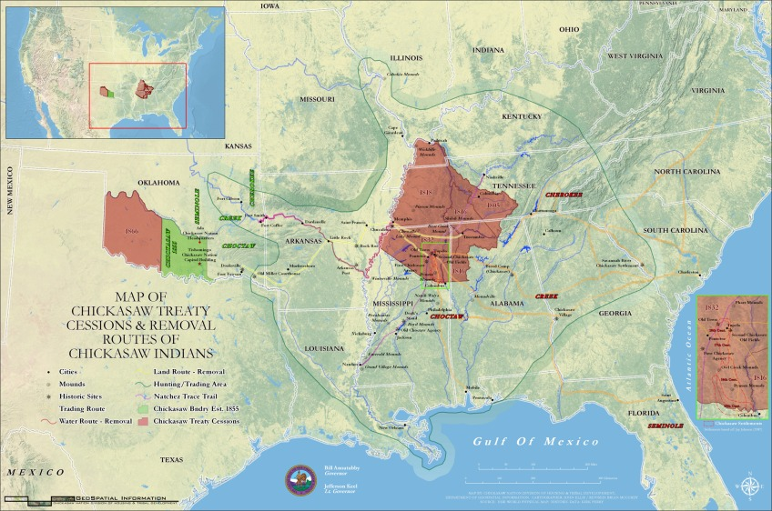 Chickasaw are removed to Indian Territory Timeline Native Voices