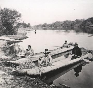 Klamath Indians Dugout Canoes