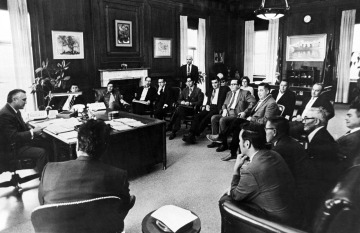 Meeting with Secretary of Interior Walter Hickel, Fall 1970.