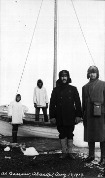 At Barrow, Alaska (Emil Krulish on right)