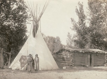 Two girls with tuberculosis on Indian reservation