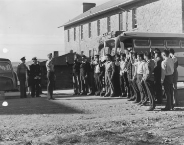 First Navajo Code Talkers Being Sworn In