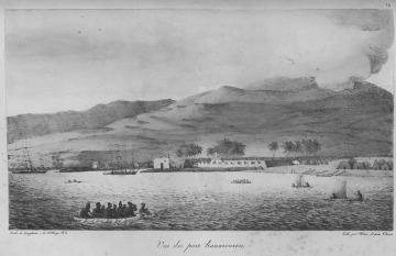 View of the Port of Honolulu, 1816-1817