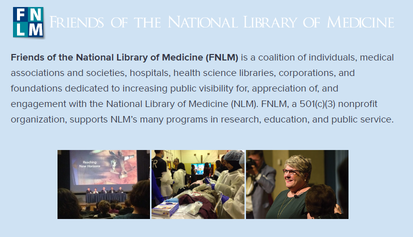 Friends of the National Library of Medicine | Brochure image