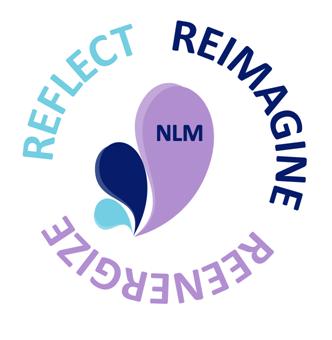 NLM Three Rs logo - Reflect, Reimagine, Reenergize