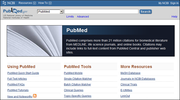 PubMed, MeSH & NLM Catalog Search Boxes Modified