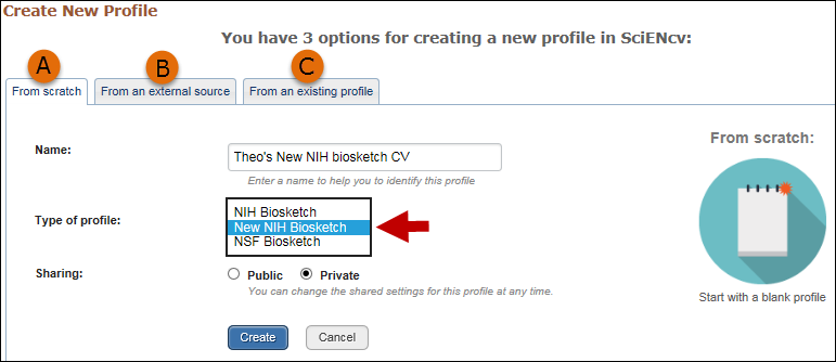Select The New NIH Biosketch Format