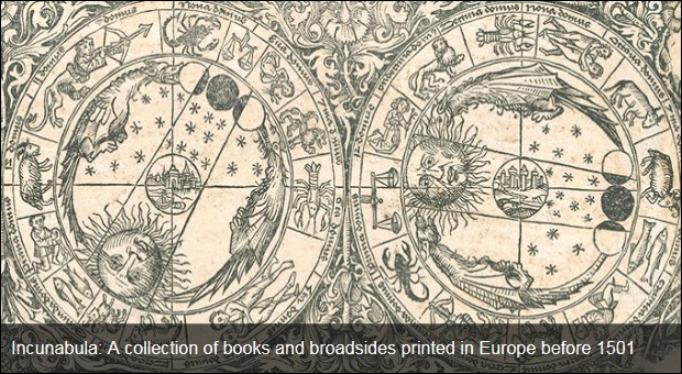 screen shot of an item from the Incunabula collection