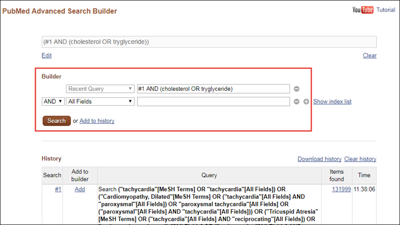 PubMed Advanced Search Builder.