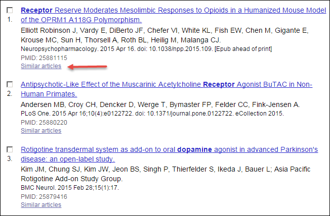 PubMed Summary Display