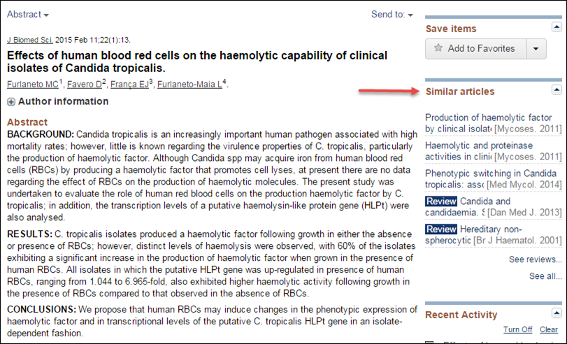 PubMed Abstract Display
