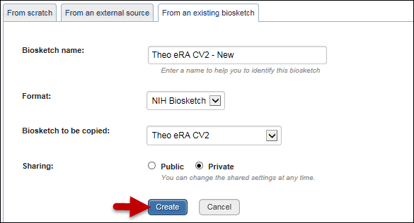 nih biosketch template word - sciencv converting profiles that use the old nih