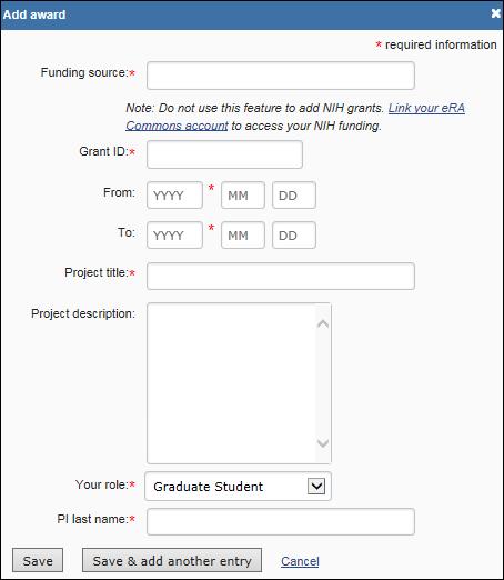 NIH F   Fellowship Biosketch Template  sample   The University of Texas  Graduate School of Biomedical