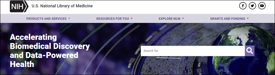 Search the NLM site from the homepage.
