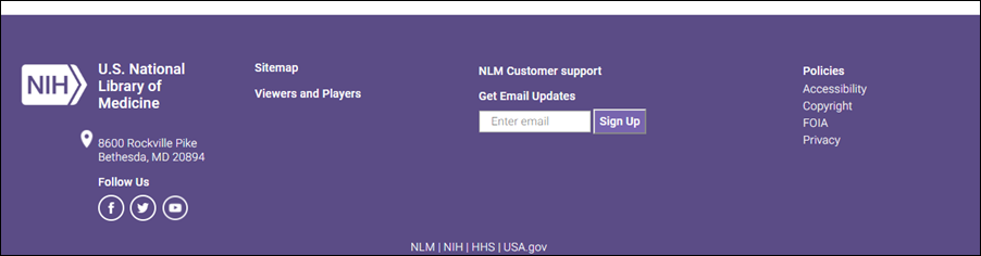 Sign up for Updates from NLM.