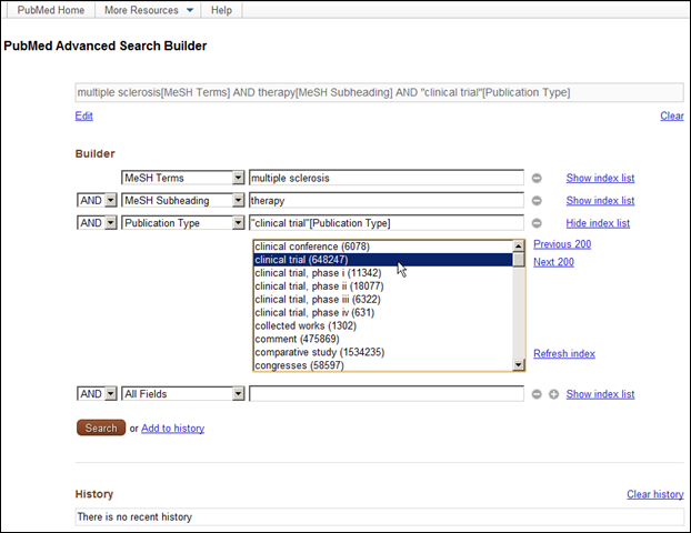 PubMed Advanced Search Page Updated  NLM Technical Bulletin