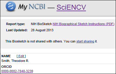 nih biosketch personal statement instructions