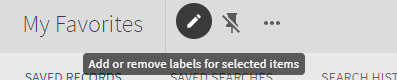 Add labels to multiple records