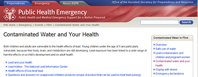 Detail of Public Health Emergency page of the Office of the Assistant Secretary for Preparedness and Response